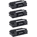 999inks Compatible Quad Pack Dell 593-BBBJ Black Laser Toner Cartridges