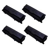 Compatible Quad Pack Kyocera TK-110 Black High Capacity Laser Toner Cartridges