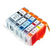 Compatible Multipack Canon BCI-3eK And BCI-6K/C/M/Y 1 Full Set Inkjet Printer Cartridges