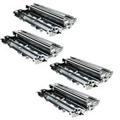 999inks Compatible Quad Pack Brother TN7600XL Black Extra High Capacity Toner Cartridges