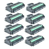 Compatible Eight Pack Ricoh 407255 Black Laser Toner Cartridges