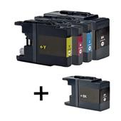 999inks Compatible Multipack Brother LC1280 1 Full Set + 1 FREE Black Inkjet Printer Cartridges