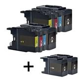 999inks Compatible Multipack Brother LC1240 2 Full Sets + 2 FREE Black Inkjet Printer Cartridges
