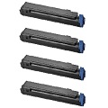 999inks Compatible Quad Pack Oki 43979102 Black Laser Toner Cartridges
