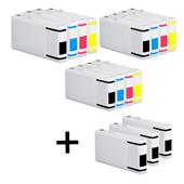 999inks Compatible Multipack Epson T7021/4 3 Full Sets + 3 FREE Black Inkjet Printer Cartridges