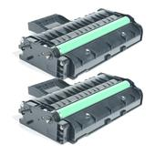 Compatible Twin Pack Ricoh 407255 Black Laser Toner Cartridges
