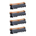Compatible Quad Pack Brother TN2320 Black Laser Toner Cartridges