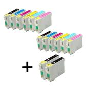 Compatible Multipack Epson T0791/796 2 Full Sets + 2 FREE Black Inkjet Printer Cartridges