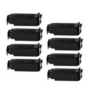999inks Compatible Eight Pack Lexmark 12A4715 Black High Capacity Laser Toner Cartridges