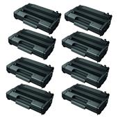 Compatible Eight Pack Ricoh 406990 Black High Capacity Laser Toner Cartridges