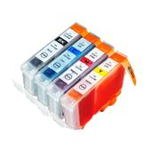 Compatible Multipack Canon BCI-6BK/C/M/Y 1 Full Set Inkjet Printer Cartridges