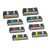 999inks Compatible Multipack Lexmark C734A2KG/YG 2 Full Sets Laser Toner Cartridges