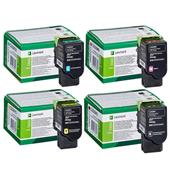 Lexmark C232HK0/Y0 Full Set Original High Capacity Laser Toner Cartridges