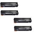 Compatible Quad Pack HP 83A Black Laser Toner Cartridges