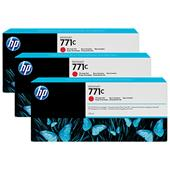 HP 771C Chromatic Red Original 3 Ink Multipack (B6Y32A)