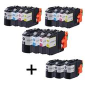 Compatible Multipack Brother LC227XL/LC225XL 3 Full Sets + 3 FREE Black Inkjet Printer Cartridges
