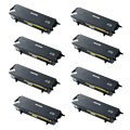 Compatible Eight Pack Brother TN3060 Black High Capacity Laser Toner Cartridges