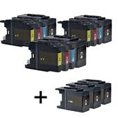999inks Compatible Multipack Brother LC1240 3 Full Sets + 3 FREE Black Inkjet Printer Cartridges