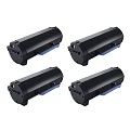999inks Compatible Quad Pack Dell 593-11167 Black Laser Toner Cartridges