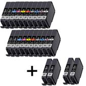 999inks Compatible Multipack Canon PGI-72 2 Full Sets + 2 FREE Black Inkjet Printer Cartridges