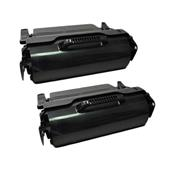 999inks Compatible Twin Pack Lexmark T650A21E Black Laser Toner Cartridges