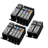 999inks Compatible Multipack Canon PGI-580PGBKXXL and CLI-581BK/C/M/Y (XXL) 2 Full Sets + 2 FREE Black Inkjet Printer Cartridges