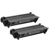 Compatible Twin Pack Brother TN3380 Black Laser Toner Cartridges