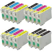 Compatible Multipack Epson T0711/4 3 Full Sets + 3 FREE Black Inkjet Printer Cartridges