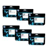 HP 727 Full Set Original High Capacity Ink Cartridges