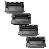 999inks Compatible Quad Pack HP 37X Black High Capacity Laser Toner Cartridges