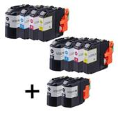 Compatible Multipack Brother LC227XL/LC225XL 2 Full Sets + 2 FREE Black Inkjet Printer Cartridges