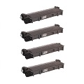 Compatible Quad Pack Brother TN2310 Black Laser Toner Cartridges