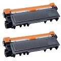 Compatible Twin Pack Brother TN2320 Black Laser Toner Cartridges