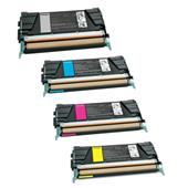 999inks Compatible Multipack Lexmark C734A2KG/YG 1 Full Set Laser Toner Cartridges