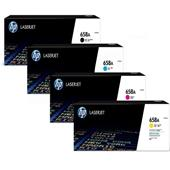HP 658A Full Set Original Standard Capacity Laser Toner Cartridges