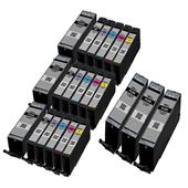 999inks Compatible Multipack Canon PGI-580PGBKXXL and CLI-581BK/C/M/Y/PB (XXL) 3 Full Sets + 3 FREE Black Inkjet Printer Cartridges