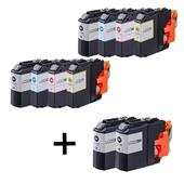 Compatible Multipack Brother LC223 2 Full Sets + 2 FREE Black Inkjet Printer Cartridges