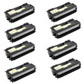 Compatible Eight Pack Brother TN7600 Black High Capacity Laser Toner Cartridges