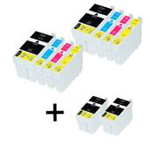 999inks Compatible Multipack Epson T2711 2 Full Sets + 2 FREE Black Inkjet Printer Cartridges