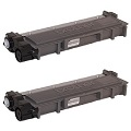 Compatible Twin Pack Brother TN2310 Black Laser Toner Cartridges