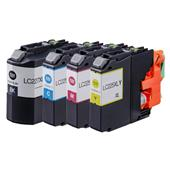 Compatible Multipack Brother LC227XLBK/LC225XLC/M/Y Full Set Inkjet Printer Cartridges