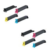 Compatible Multipack Sharp MX-27GTBA/YA 2 Full Sets Laser Toner Cartridges