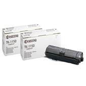 Kyocera TK-1150 Black Original Laser Toner Cartridge Twin Pack