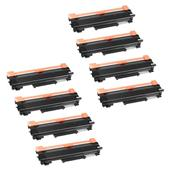 999inks Compatible Eight Pack Brother TN2220XL Black Extra High Capacity Toner Cartridges