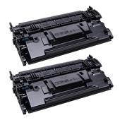 999inks Compatible Twin Pack HP 87X Black High Capacity Laser Toner Cartridges