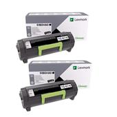 Lexmark 51B0HA0 Black Original High Capacity Laser Toner Cartridge Twin Pack