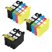 Compatible Multipack Epson T3471 2 Full Sets + 2 FREE Black High Capacity Inkjet Printer Cartridges