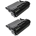999inks Compatible Twin Pack Lexmark T650H11E Black High Capacity Laser Toner Cartridges