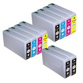 999inks Compatible Multipack Epson T7901 2 Full Sets + 2 FREE Black Inkjet Printer Cartridges