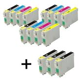 999inks Compatible Multipack Epson T1291/4 3 Full Sets + 3 FREE Black Inkjet Printer Cartridges